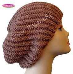 Вяжем шапку-бини французской резинкой
