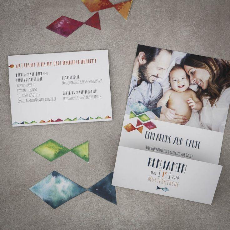 Schön Bunte Taufe | Einladung