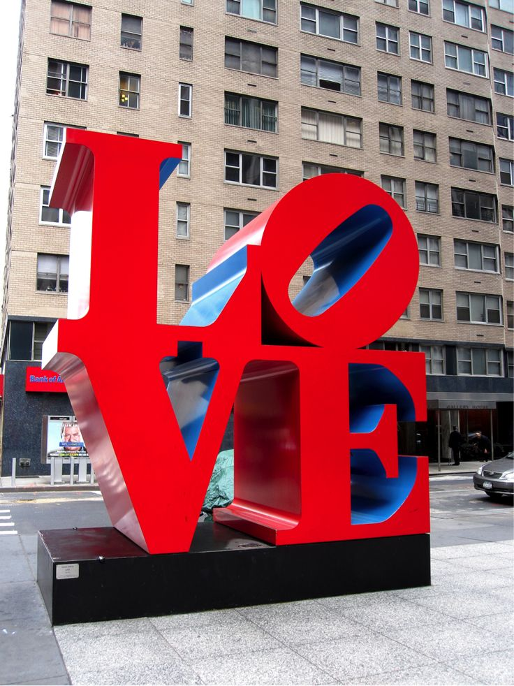 The Love #Sculpture, 6th Ave. and 55th St., is only 15 minutes from the Empire State Building. // NYC Tourism
