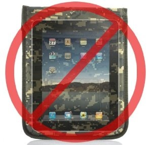 Good deal at $19.99 - Army Green Colored Protective Anti-Radiation Signal Blocking Case for iPad/iPad2/iPad3 and other Tablet PCs - http://www.amazon.com/gp/product/B00BEIYI6E