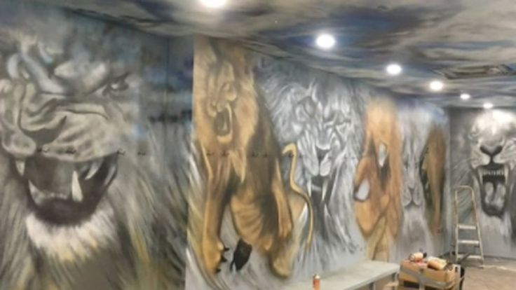 Non-League Billericay Town's lion-theme dressing room