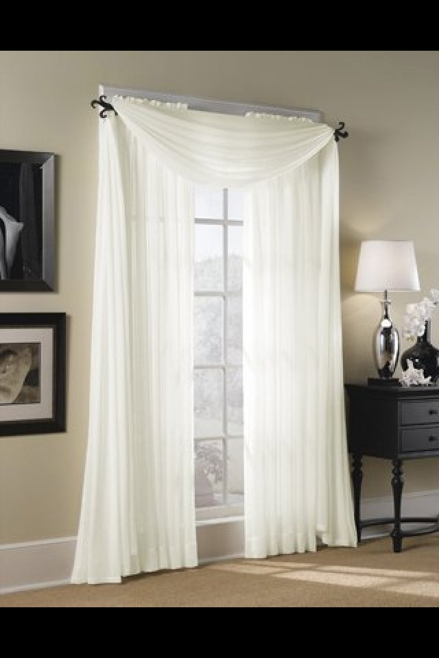 Sheer curtain window drape salon inspiration pinterest for Sheer panel curtain ideas