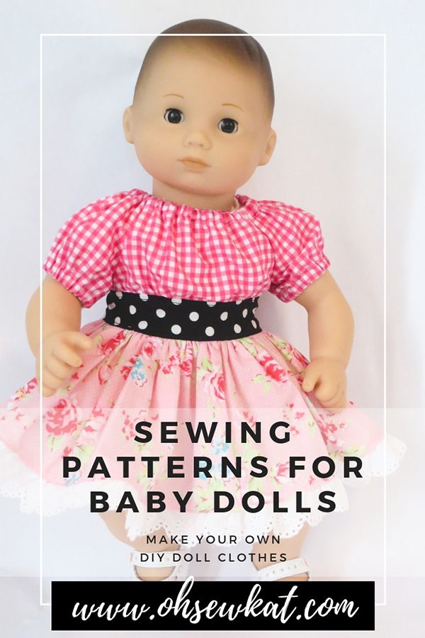 Easy Sewing Patterns For Baby Dolls Dolls Clothes Diy Doll Clothes Clothes Sewing Patterns