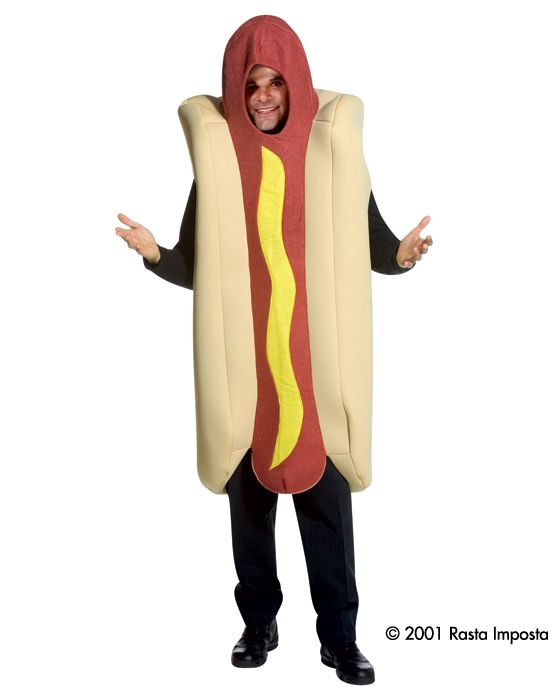 Adult One Size Hot Dog Food Take Away Chili Outfit Fancy Dress Costume Male | eBay