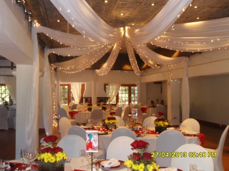Ceiling Draping With Fairy Lights Draping And Decor In