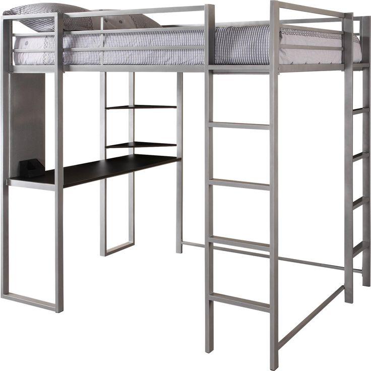 DHP Abode Full Size Metal Loft Bed (Abode Full Size Loft Bed,