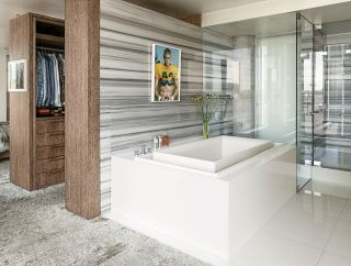 Modern Bathroom by Ingrao Inc. via @Architectural Digest #designfile