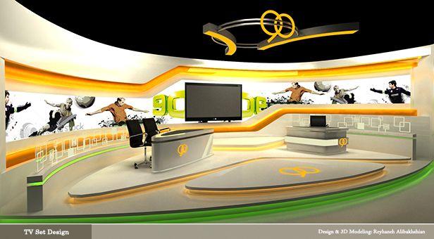 TV set design/ 3D Modeling & design: Reyhaneh Alibakhshian