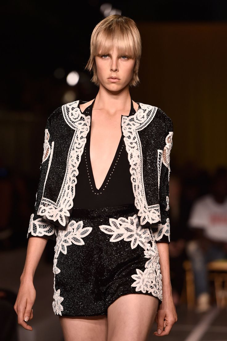 I just reacted to Edie Campbell at Givenchy Spring 2015. Check it out!
