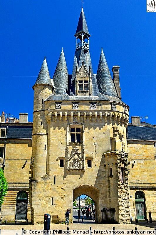 Porte Cailhau, place du Palais à Bordeaux (Aquitaine, Gironde) Francia.
