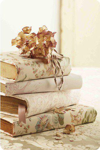 Book covers...good idea.