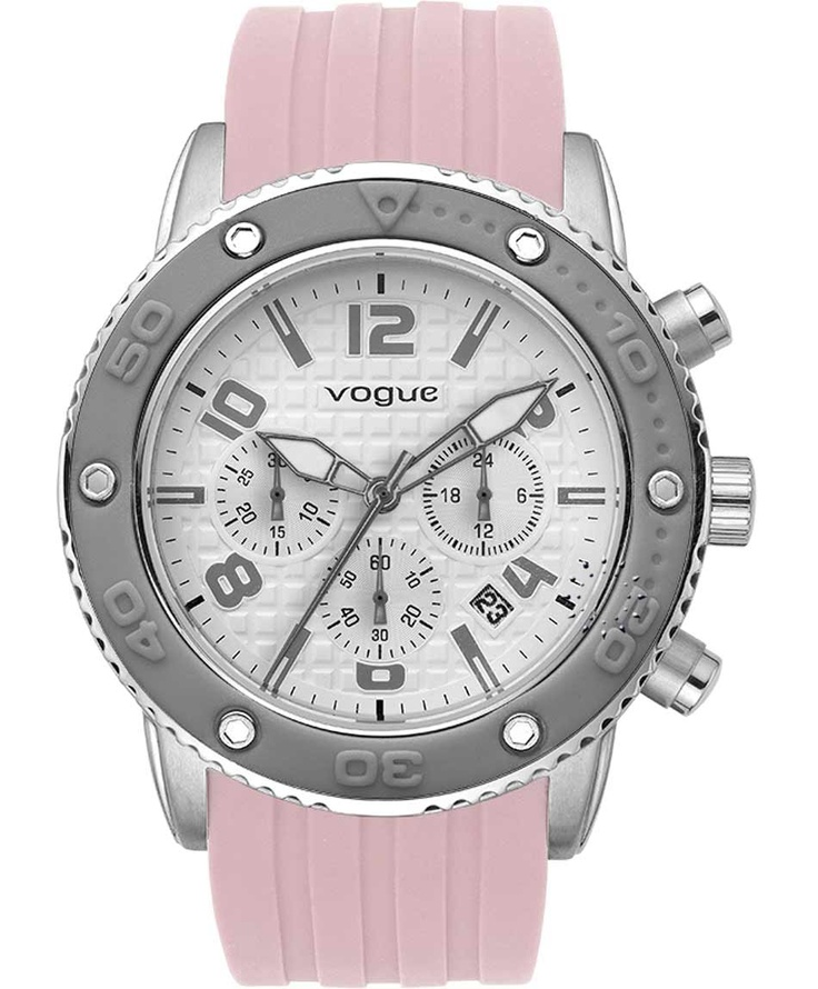 VOGUE Chronograph Pink Rubber Strap  Τιμή: 165€  Αγοράστε το εδώ: http://www.oroloi.gr/product_info.php?products_id=31637
