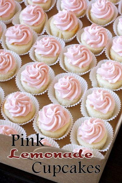 Pink Lemonade Cupcakes with Strawberry Buttercream Frosting