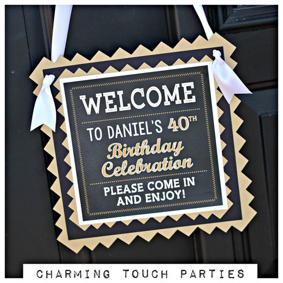 40th Birthday Party Decorations. 4 piece by CharmingTouchParties