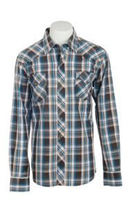 Garth Brooks Sevens by Cinch Men's Brown Plaid Long Sleeve Western Snap Shirt | Cavender's