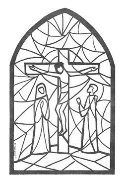 Activités : Semaine Sainte vitraux à colorier