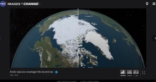"NASA Climate Change (@nasaclimatechange) on Instagram: ""The area of the Arctic Ocean covered in ice increases during the winter and then shrinks during the…"""