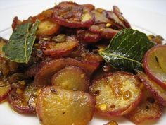 Description     Crunchy red radish fry in minutes to go with rice. Ingredients 6 nosRed radish (cut thin round slices)1 noOnion (cut ...