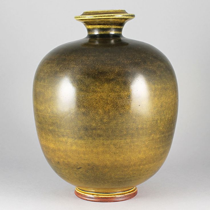 Berndt Friberg (1976) Unique Swelling Green Vase
