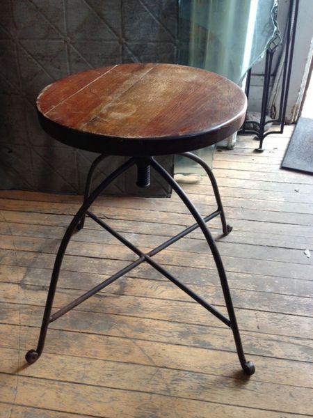 65$ Height Adjustable vintage stool
