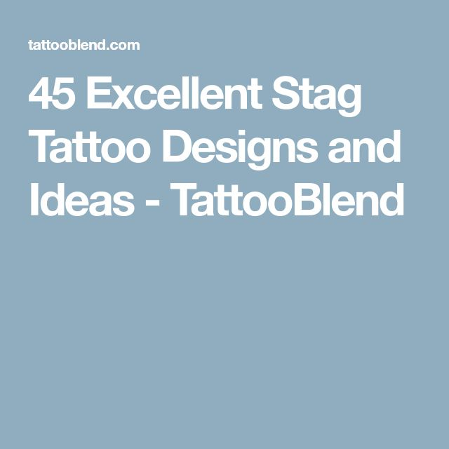 45 Excellent Stag Tattoo Designs and Ideas - TattooBlend