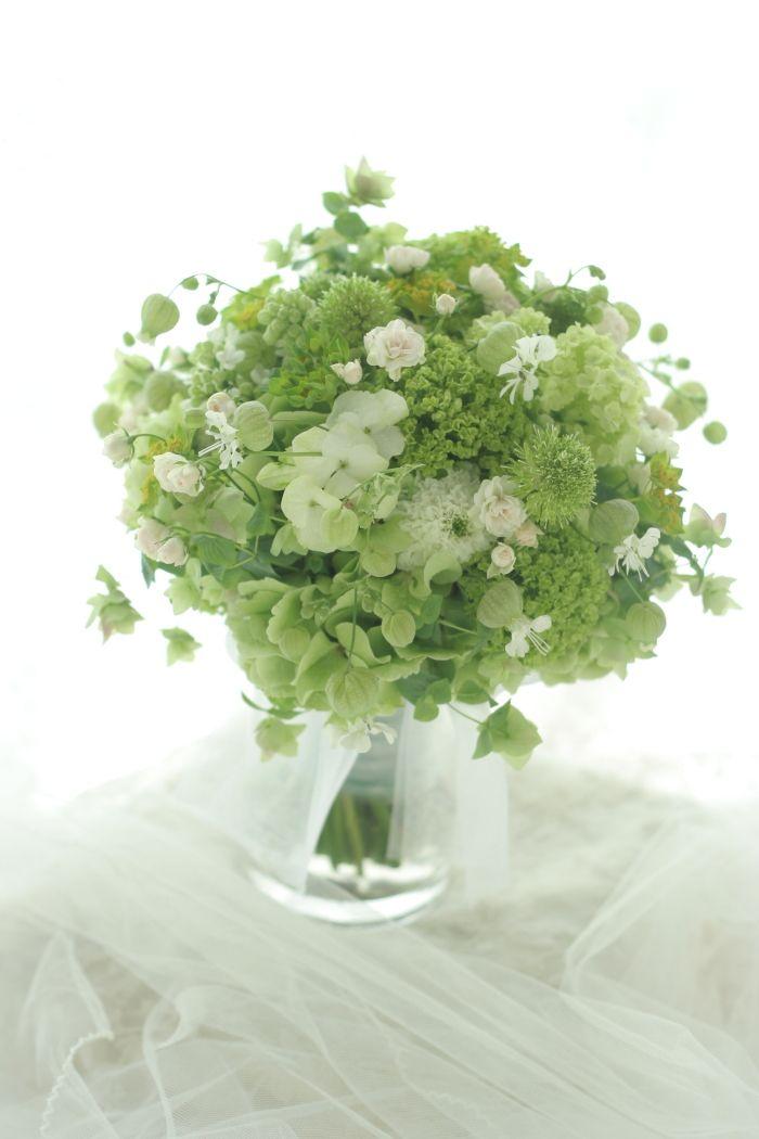 緑いっぱいのブーケ アンカシェットさまへの画像:一会 ウエディングの花