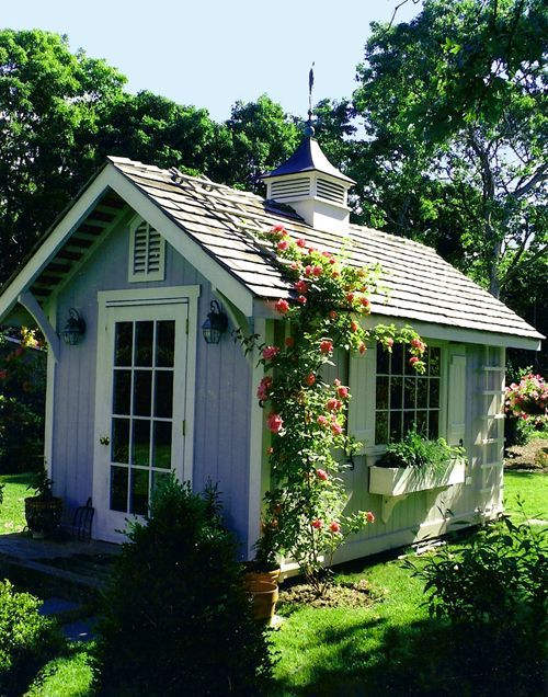 Looking for a garden shed. Don't think this is in the budget, but a girl can dream.
