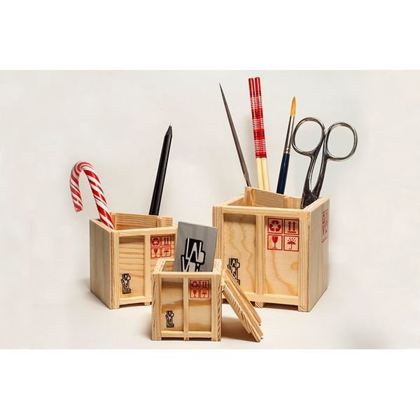PRODUCTS :: LIVING AND DESIGN :: Accessories, Decorations :: Inbox – Set of 3 designer shipping boxes