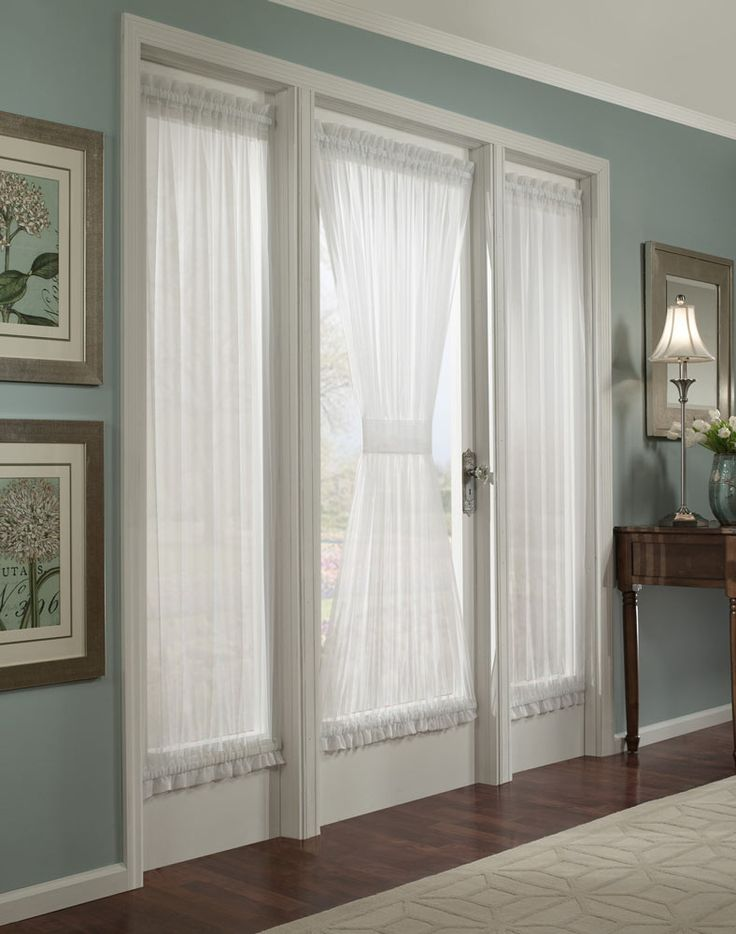 natural stacey privacy french door panel with tieback