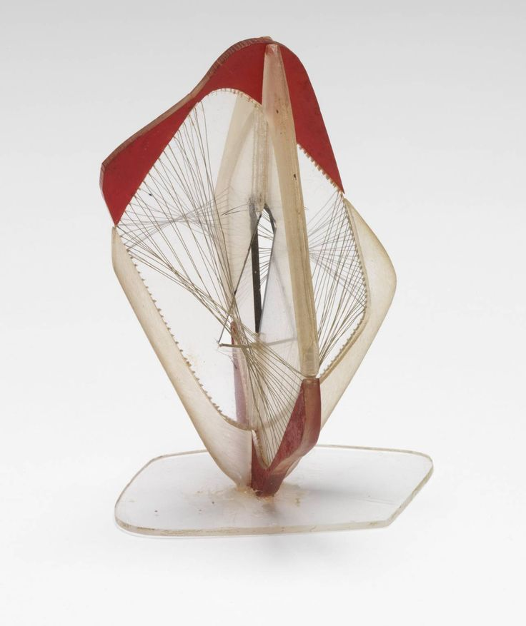Naum Gabo 'Model for 'Linear Construction No. 3 with Red'', 1952 The Work of Naum Gabo © Nina & Graham Williams/Tate, London 2014