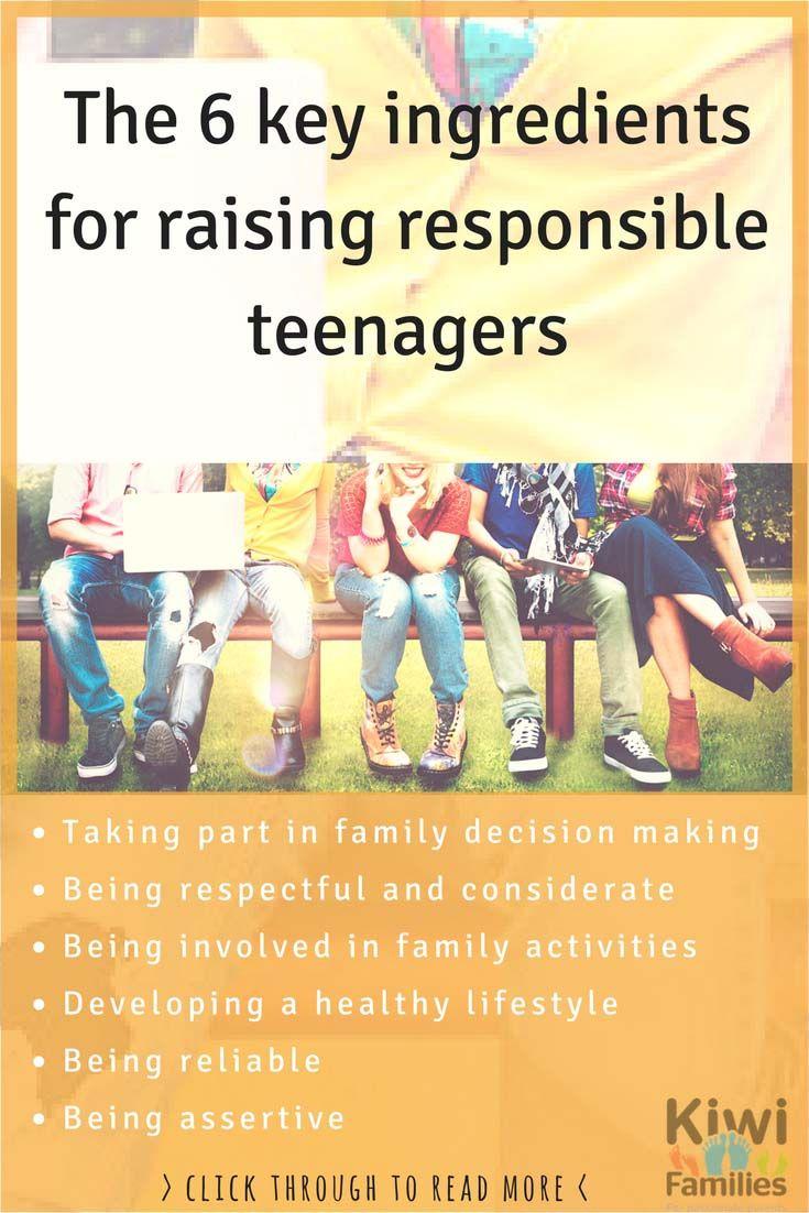 Here are 6 key ingredients for Raising Responsible Teens.