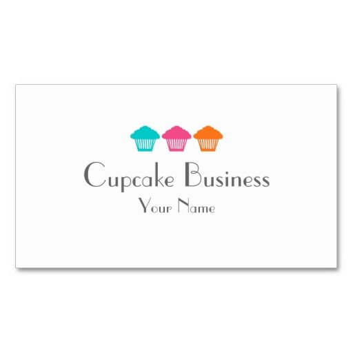 Simple colorful cupcakes bakery business cards. I love this design! It is available for customization or ready to buy as is. All you need is to add your business info to this template then place the order. It will ship within 24 hours. Just click the image to make your own!
