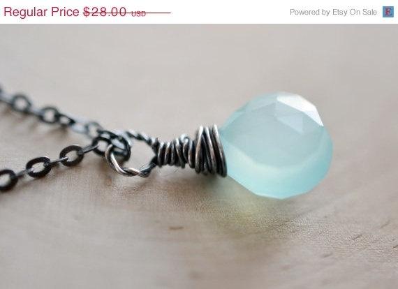 seafoam blue necklace