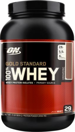 Optimum Nutrition Gold Standard 100% Whey Chocolate Malt 2 Lbs. OPT292 Chocolate Malt - 24g of Whey Protein with Amino Acids for Muscle Recovery and Growth*