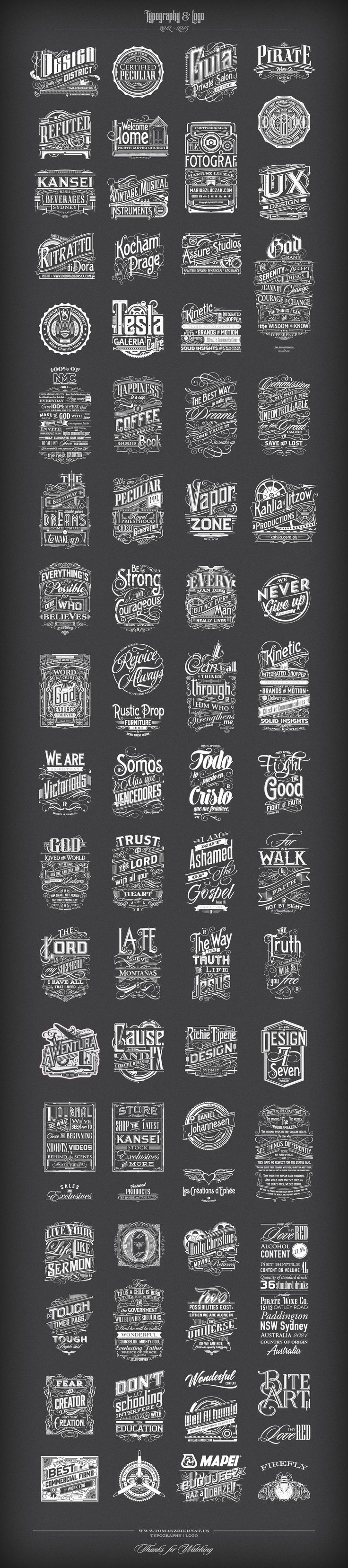 Typography | Logo 2012-2015 on Behance