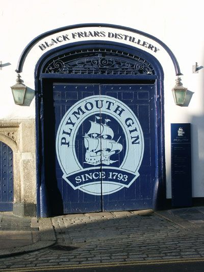 Plymouth Gin at the distillery in the Barbican in Plymouth