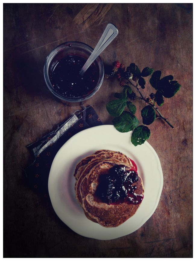 Sourdough Pancakes with Blackberry Compote @ In Vegetables We Trust