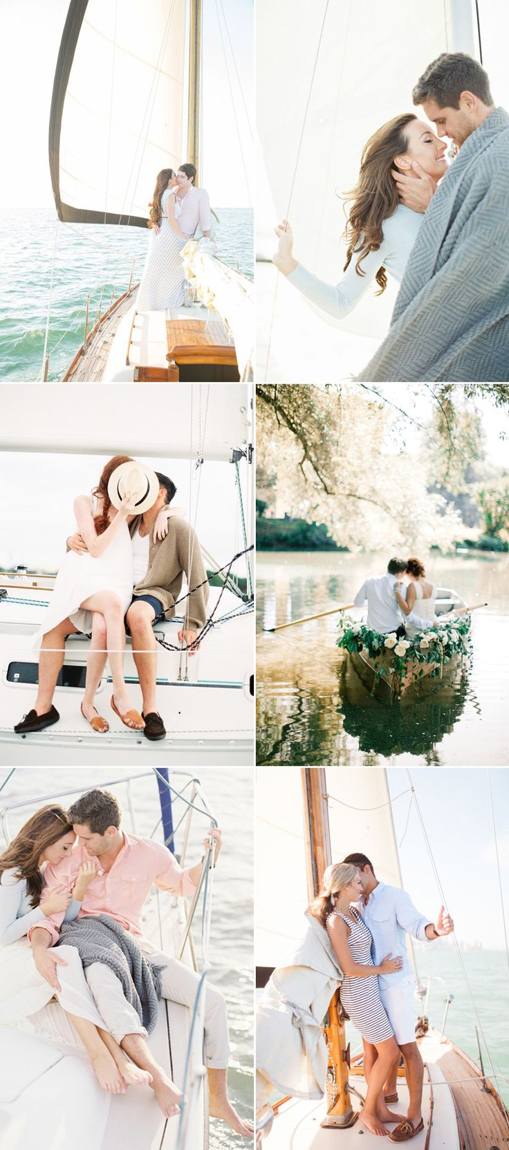 "We hear the term ""love boat"" all the time, but never imagined how romantic it is to actually have your engagement photos taken on a boat!  There is something so peaceful and magical about today's collection of engagement photos. These couples are totally in their own little worlds filled with love and joy, and perhaps …"