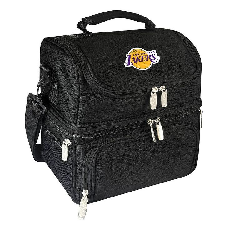 Picnic Time Los Angeles Lakers Pranzo 7-Piece Insulated Cooler Lunch Tote Set, Black