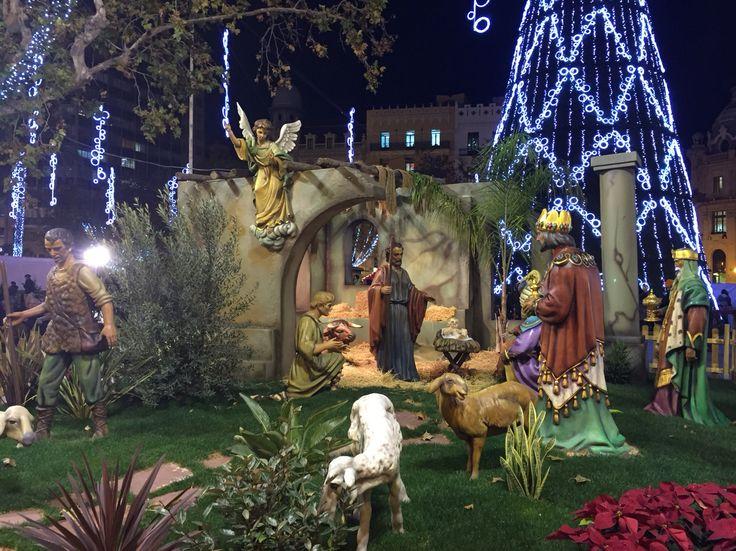Belén tamaño real Plaza del Ayuntamiento Valencia