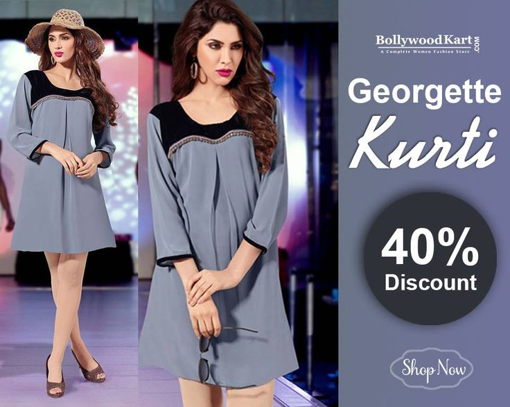 Look Stunning and stylish wearing this marvelous Elegant Velvet and Lace Work Georgette ‪#‎Kurti‬ Buy Now:http://bit.ly/1JWdyQp
