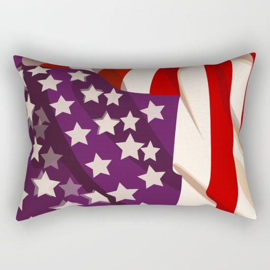 AMERICAN BLUR [rectangular pillow] by MESSYMISSY76