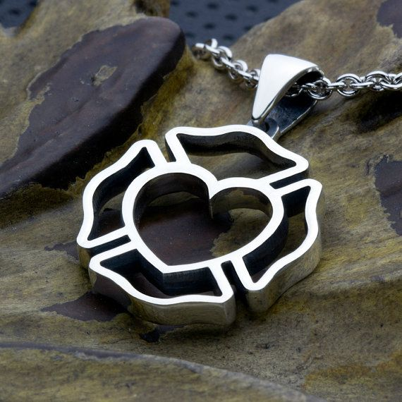 Firefighter Maltese Cross Outline with Heart Center Sterling Silver Necklace Pendant - I finally ordered this and I absolutely love it!! :)