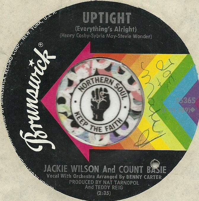 JACKIE WILSON COUNT BASIE UPTIGHT STEVIE WONDER MOTOWN SOUL R&B 45 RPM RECORD