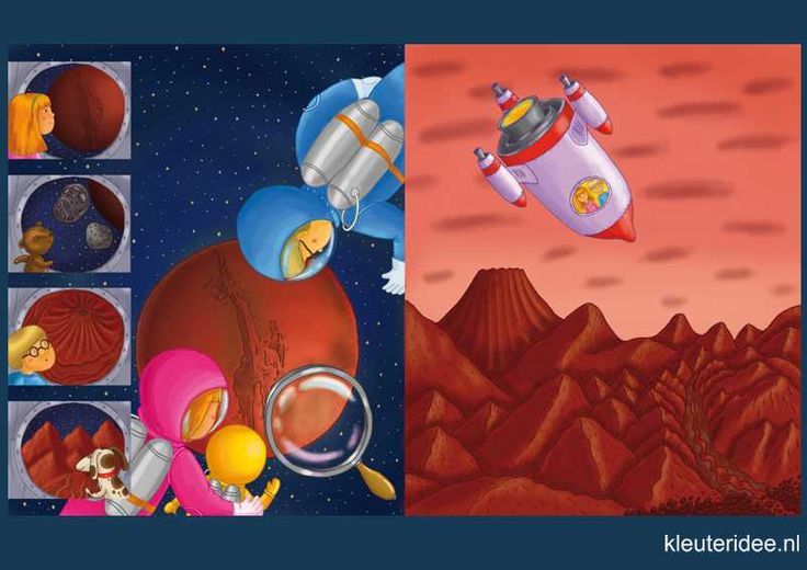 Praatplaat Ruimte 5, shuttle en planeet kleuters, kleuteridee.nl, free printable (groot formaat) / Preschool theme space planets / Láminas Didácticas Astronaute de l'espace maternelle