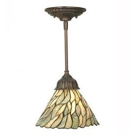 meyda tiffany jadestone willow 8in w mahogany bronze hardwired standard mini pendant light with