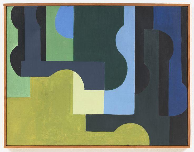Saloua Raouda Choucair, Composition on Green Module, 1947-51 oil on canvas 22 1/2 x 26 3/4 in. (57.1 x 68 cm)