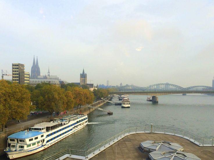 Blick aus dem Schokoladenmuseum Köln