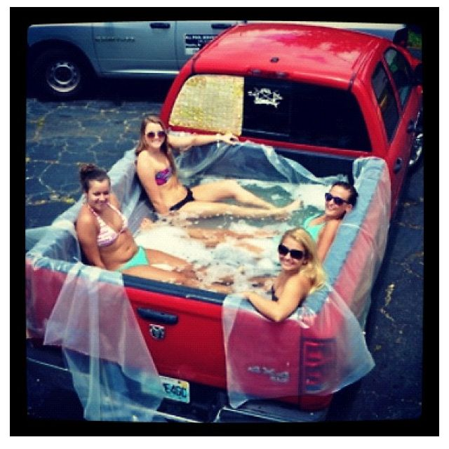 This has got my brother written all over it! hick pool!