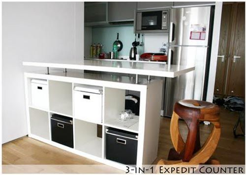 3 In 1 Expedit Kitchen Counter By Ikea Hackers Allthingabout Es Bike